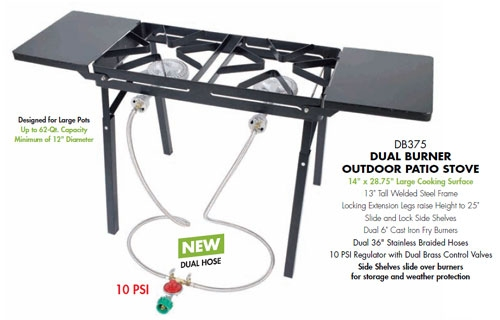 Bayou Classic Double Burner Patio Stove