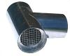 "Z Vent III Termination Tee Stainless Steel Vent Pipe 3"" Diameter"