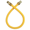 """Dormont 18"""" Yellow Coated Flexible Appliance Connector 1/2"""" Fittings"""
