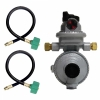 "Fairview Twin Stage Propane Automatic Changeover Regulator with 15"" QCC Acme Pigtails"