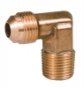 "Brass Flare Elbow 3/8"" Male Flare x 3/8"" MIP 90 Degree"